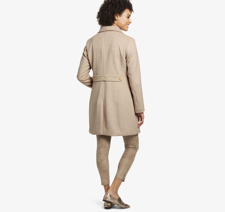 Diagonal Wool Coat