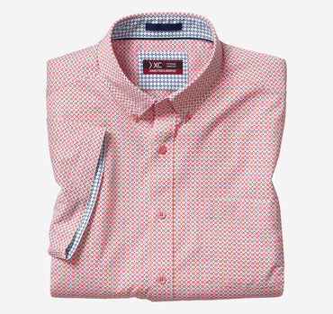 XC4® Medallion Dot Print Short-Sleeve Stretch Shirt
