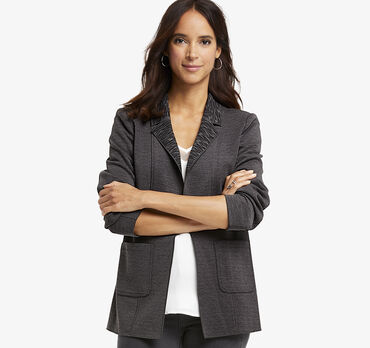 Double-Face Knit Blazer