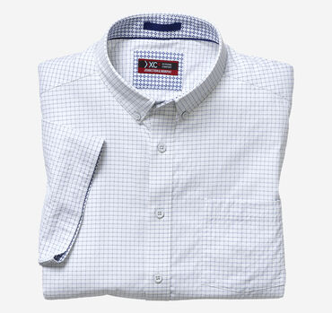 XC4® Windowpane Short-Sleeve Stretch Shirt