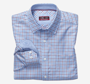 XC4® Arrow Rope Check Point-Collar Shirt