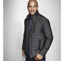 Micro Grid Quilted Jacket