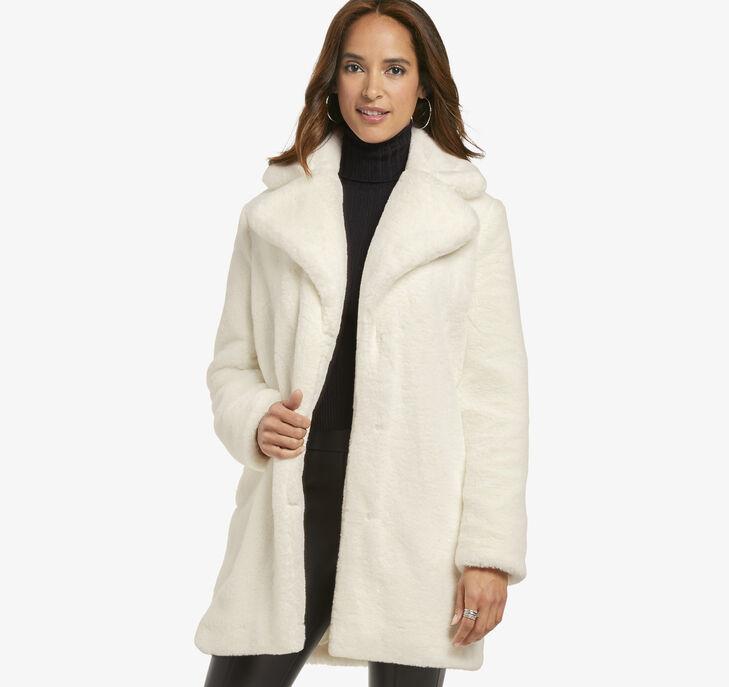 Faux-Fur Bunny Coat