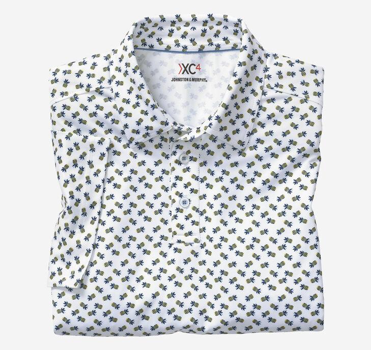 XC4 Pineapple Print Polo