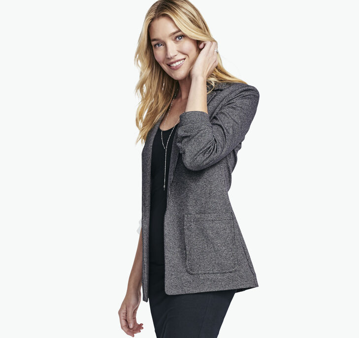 Knit Open-Front Blazer