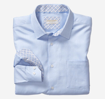 Collection Diagonal Basketweave European Dress Shirt