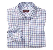 XC4® Tri-Tone Windowpane Point-Collar Shirt