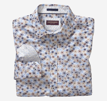 Retro Flower Burst Print Shirt