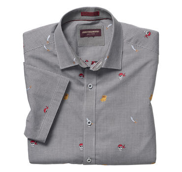 Pirate Treasure Clip-Embroidered Short-Sleeve Shirt
