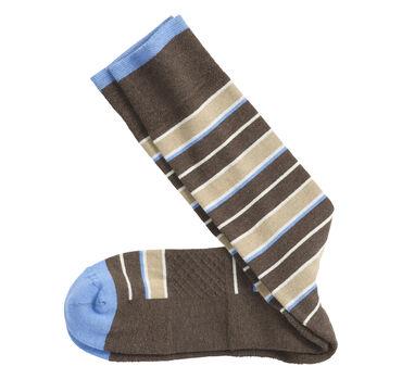 First in Comfort Wide Stripe Socks
