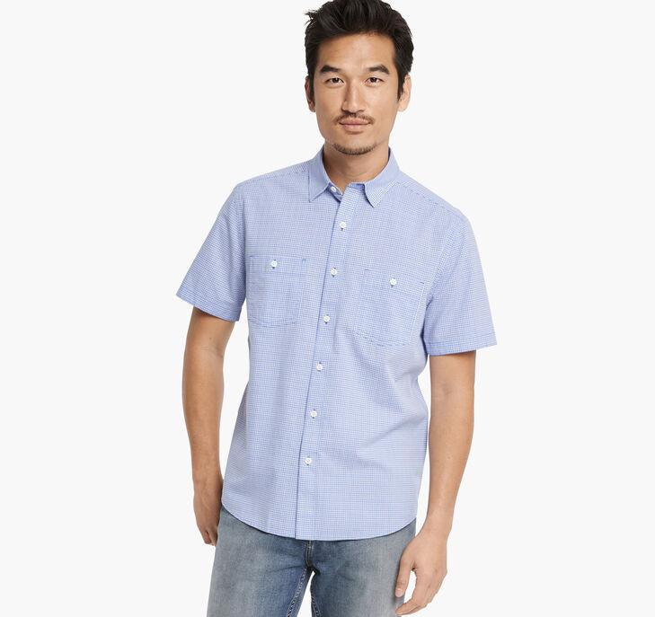 Washed Cotton Short-Sleeve Shirt
