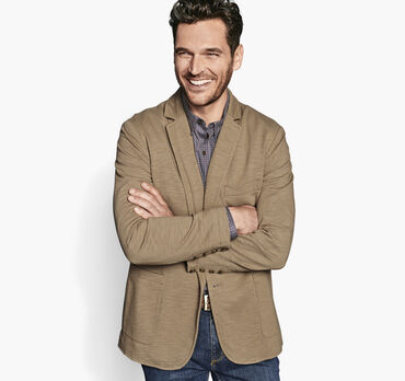 Garment-Dyed Knit Blazer