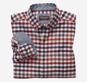 Brushed Button-Collar Shirt
