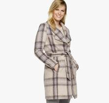 Belted Plaid Coat