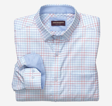 Double Line Grid Patterned Shirt