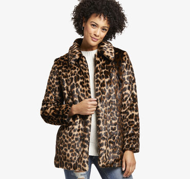 Leopard Faux-Fur Jacket