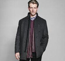 Wool Diagonal Top Coat