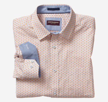 Crosshatch Grid Print Shirt