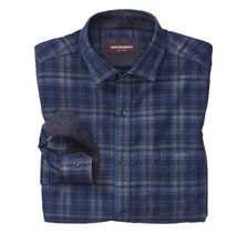 Printed Plaid Corduroy Shirt