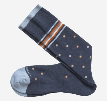 First In Comfort Stripe Dot Socks