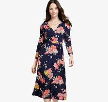Floral Knit Faux-Wrap Dress