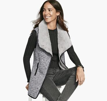 Faux-Fur Lined Vest