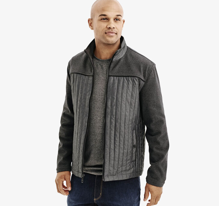 Mixed Media Quilted Jacket
