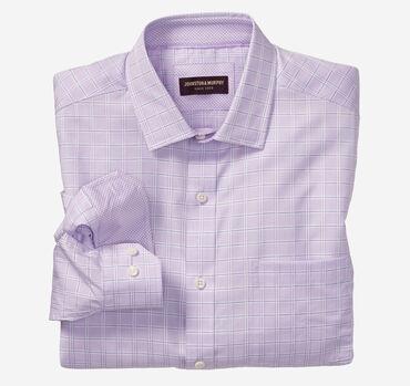Textured Windowpane Dress Shirt