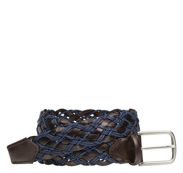 Leather/Cord Woven Belt