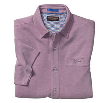 Button-Front Birdseye Shirt