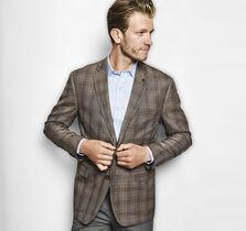 Line Plaid Silk/Wool Blazer