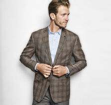 Line Plaid Silk/Wool Blazer