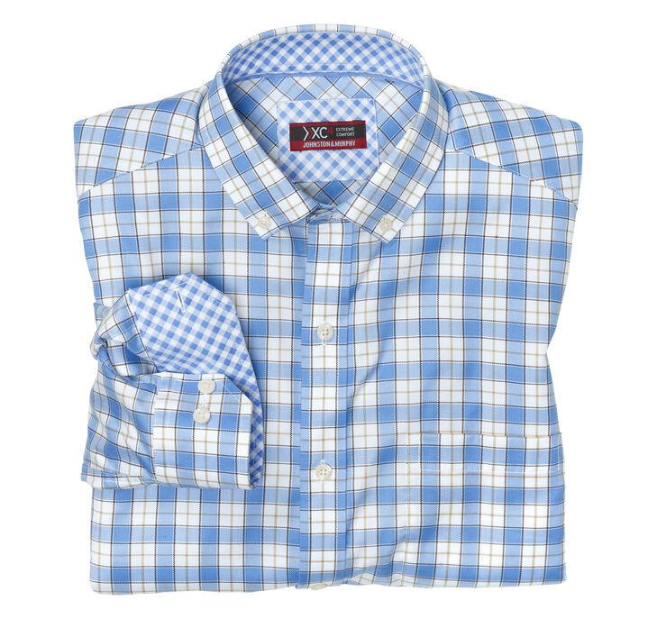 XC4® Overlay Windowpane Button-Collar Shirt