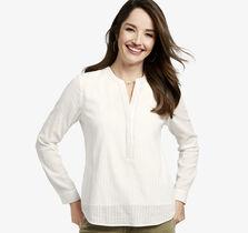 Textured Y-Neck Shirt