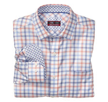 XC4® Tri-Tone Windowpane Point-Collar Shirt