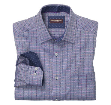 Dotted Windowpane Twill Shirt
