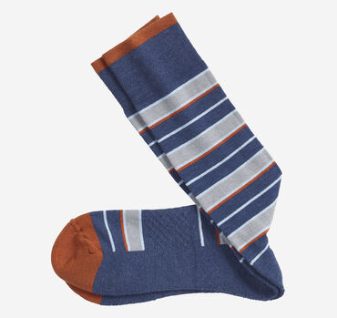 First in Comfort Wide Stripe Socks