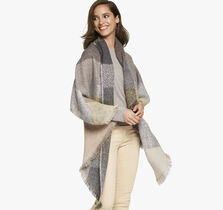Block Stripe Blanket Scarf