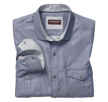 Pindot Diamond Snap-Front Shirt