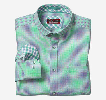 XC4® Diamond Circle Print Stretch Shirt