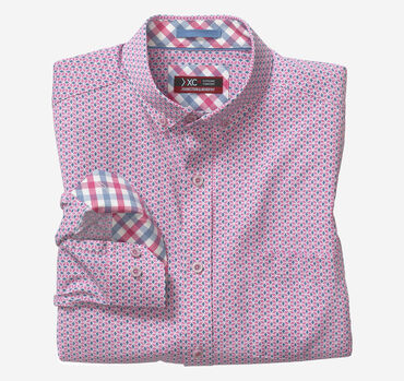 XC4® Striped Diamonds Print Stretch Shirt