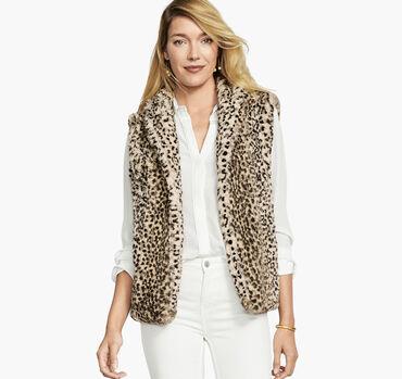 Faux-Fur Leopard Vest