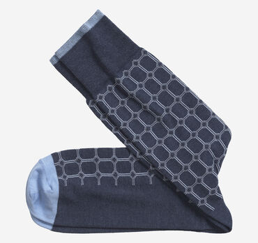Heather Circle Grid Socks