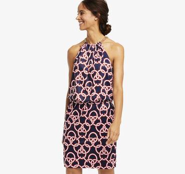 Reversible Chain-Neck Dress