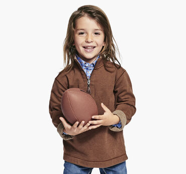 Boys Reversible Solid Quarter-Zip