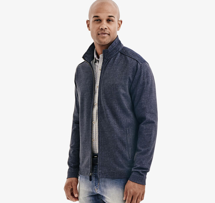 Knit Denim Full-Zip