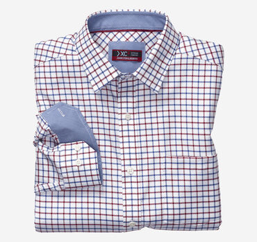 XC4® Link Windowpane Point-Collar Shirt