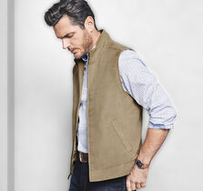 Perforated Microsuede Vest