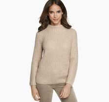 Metallic Mockneck Sweater