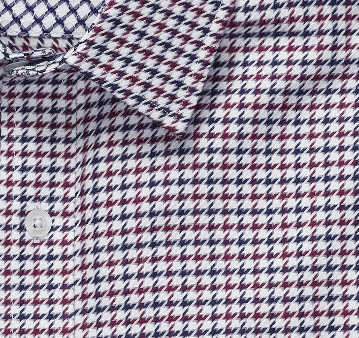 European Diagonal Grid Shirt